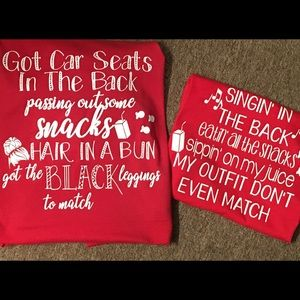 Customized shirts mommy and me!